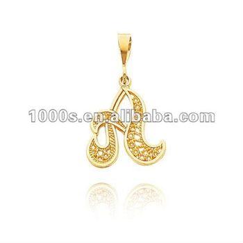 Gold letter a charms pendant buy alphabet letter a pendantcz gold letter a charms pendant mozeypictures Images