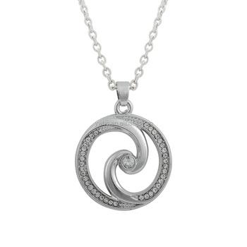 Fashion necklace jewelry material rhodium plated clear crystal women fashion necklace jewelry material rhodium plated clear crystal women elegant tornado pendant tattoo symbol necklace aloadofball Gallery