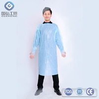 new material blue CPE apron