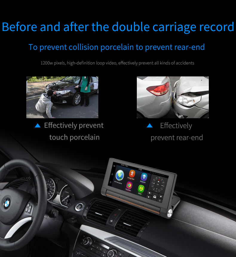 7inch dvr car navigation android gps sim