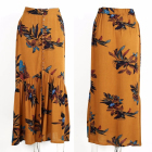 2018 New design high waisted print long skirts