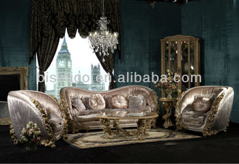 Bisini Luxury Living Room Sofa Furniture, Royal Italian Living Sofa Set,  Antique Dubai High