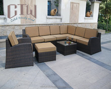 USA style outdoor rattan curved sofa L shape furniture sofa set