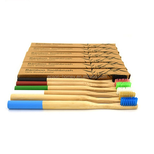 Natural Biodegradable Dropshipper Bamboo Medium Bristle Toothbrush Engraved