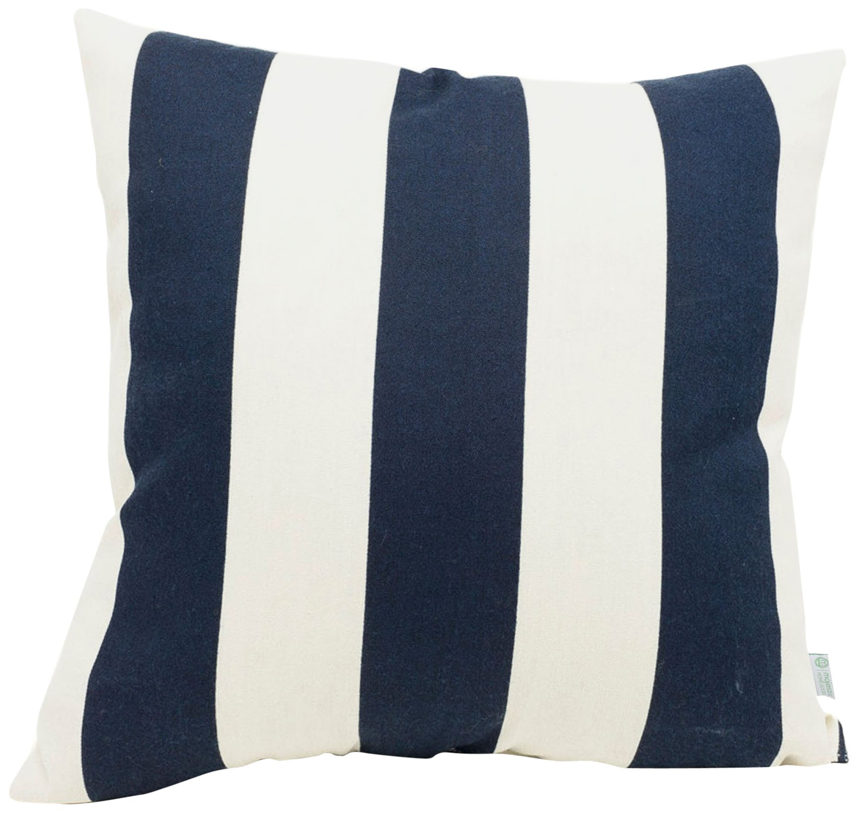 "Majestic Home Goods Navy Blue Vertical Stripe Indoor/Outdoor Large Pillow 20"" L x 8"" W x 20"" H"