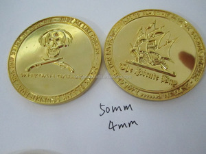 food grade PS material plastic cheap price old gold coin
