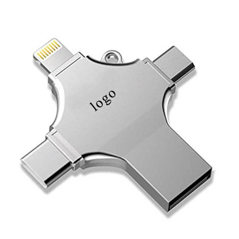 4 in 1 multi-function <strong>OTG</strong> <strong>usb</strong> <strong>flash</strong> <strong>drive</strong> for Type-C Lightning Pendrive Memory Disk
