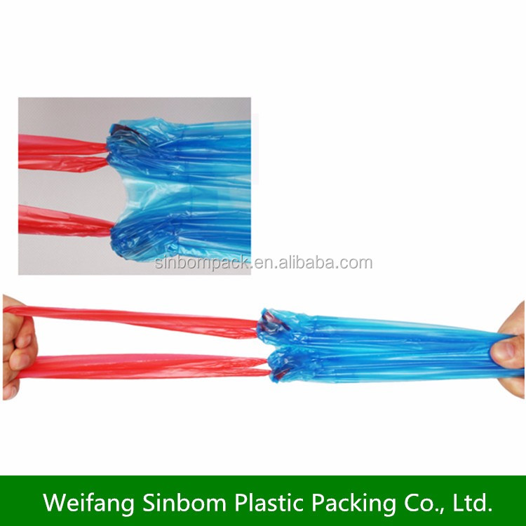 biodegradable drawstring garbage /trash/rubbish bags HDPE plastic draw-string bag on roll