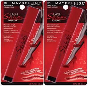 98c82a571b5 Buy Maybelline Lash Stiletto Voluptuous 971 VERY BLACK (PACK OF 2 ...