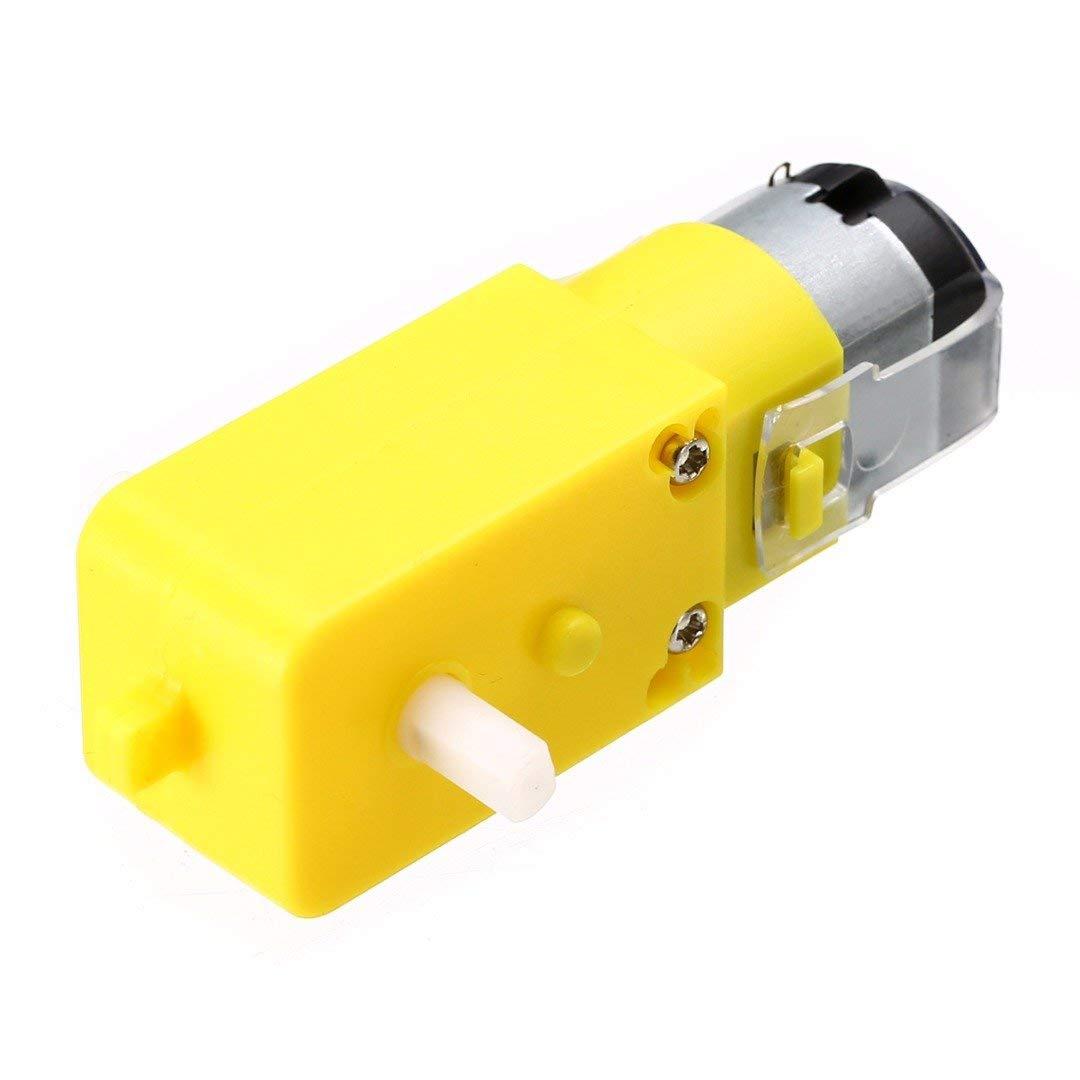 ERTIANANG 1pc Plastic Intelligent Car Gear Motor 7 x 2.2 x 1.8cm For TT Robot DC 3V-6V 1:48