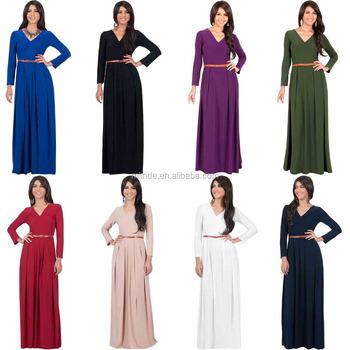 A Manches Longues Musulman Hijab De Mariage Robe Elegante Pleine Longueur Casual Maxi Modeste Simple Formelle Automne Robe Pour Le Mariage D Hiver