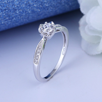 Factory Direct Sell White Gold Diamond 8925 Platinum Ring Price In