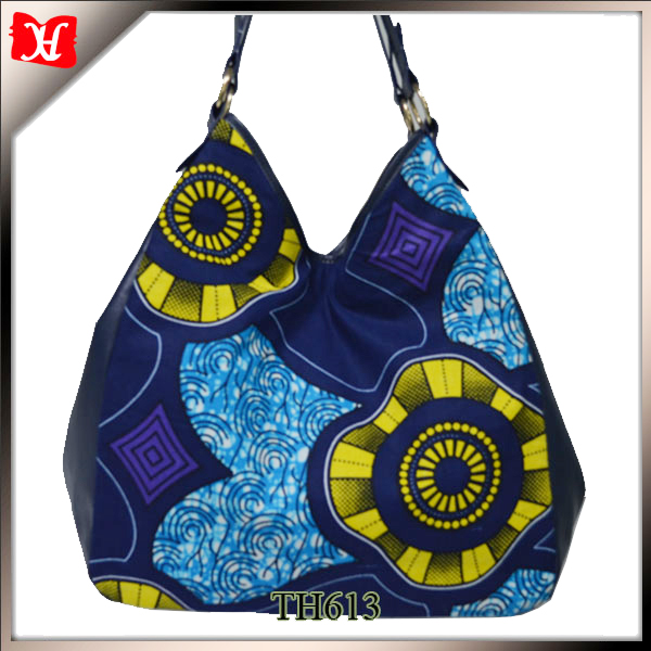 2017 fashion african fabric bags large african wax print hobo bag for ladies