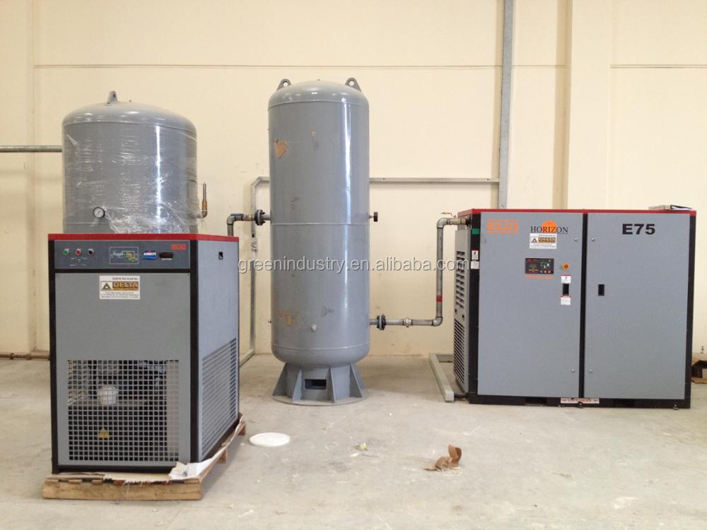 High efficiency industrial screw type air compressor for EPS plant