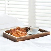Wooden Coffee Table Magazine and Document Holder Display storage serving Tray