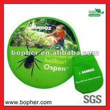 lovely foldable nylon frisbee with pouch