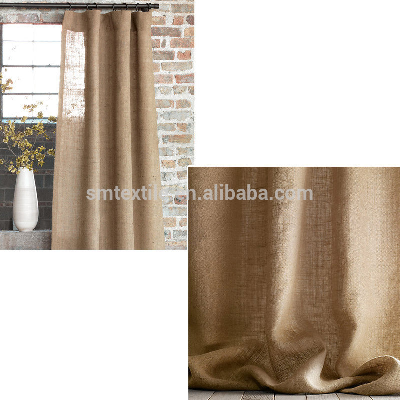 Good Quality Elegant Burlap Jute Living Room Curtains