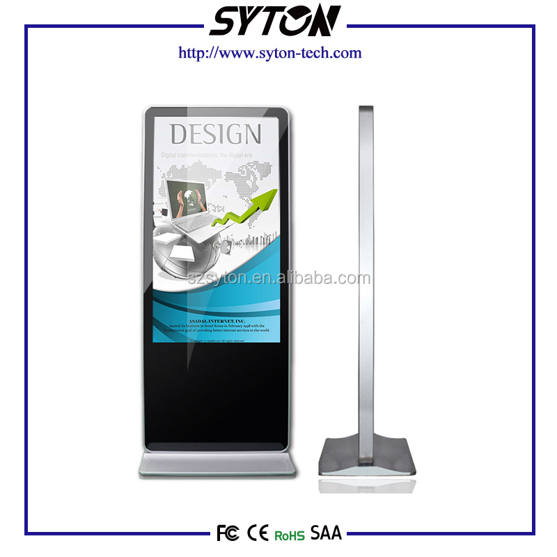 "Custom Kiosk Totem, 32"" 42"" 46"" 55"" Inch Floor Standing Android Wireless Wifi sixe video english digital signage"