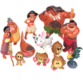 Moana Action Figures Toys 12Pcs Set Heihei Tamatoa Chief Tui Sina Tala Gift Doll Plastic Anime