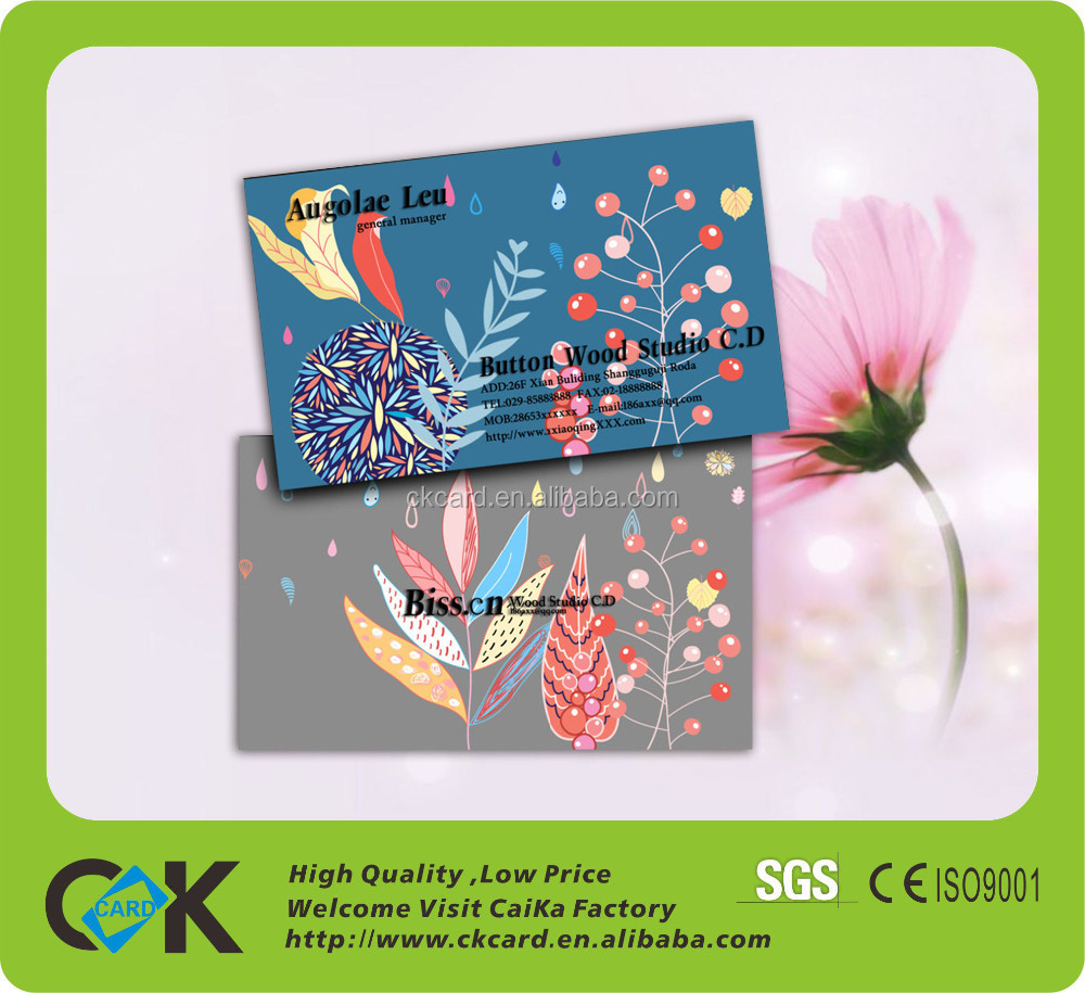 Custom CMYK printing credit card size mirror business card with cheap price