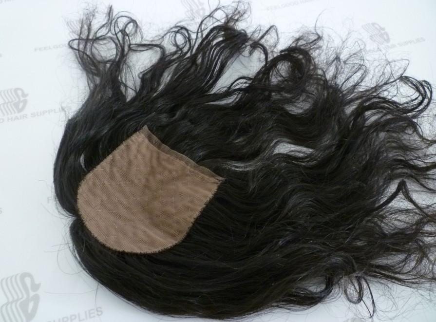 Best natural looking curly human hair silk base topper