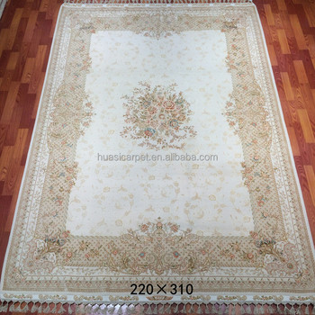 7x10ft White Hand Knotted Wool Silk Rug Kashmir Carpet Product On Alibaba Com