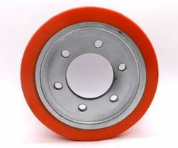 2018 230mm electric forklift parts polyurethane drive wheels for Dalong truck