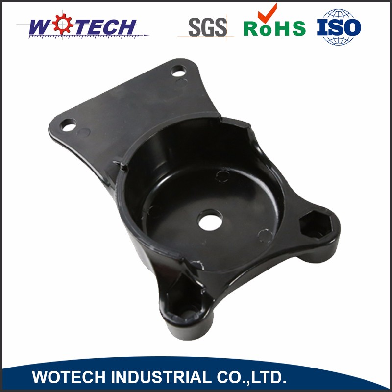 OEM aluminum metal cover die casting black e- coating parts