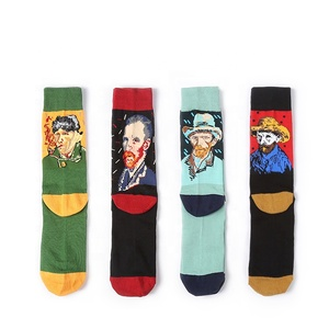 Jinhua Yiwu Calcetines Custom Business Fashion Colorful  Mens 100% Cotton Happy Socks Women Funny Happy Socks