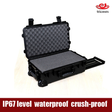 China supplier injection molded superior quality waterproof plastic protective tool box with drawers