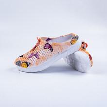 Женские сандалии для сада, дышащие пляжные туфли Aqua, легкие пляжные шлепанцы с вырезами для прогулок, лето 2019(Китай)