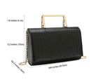 Charming Tailor Small Crocodile Print Handbag PU Cross Body Bag Croc Top Handle Satchel Women Clutch Purse