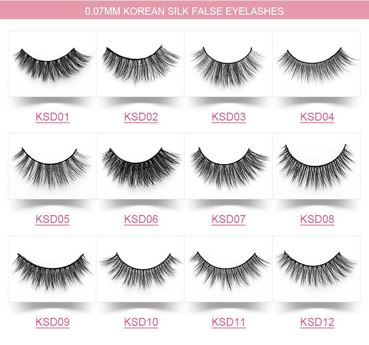 Wholesale Eye Lash Own Logo Brand 3d Korean Silk False Eyelash Buy