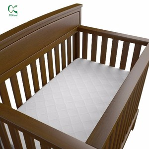 Custom too hot selling quilted quality waterproof foam / vinyl / crib or baby cot mattress pad for hotel or hospital