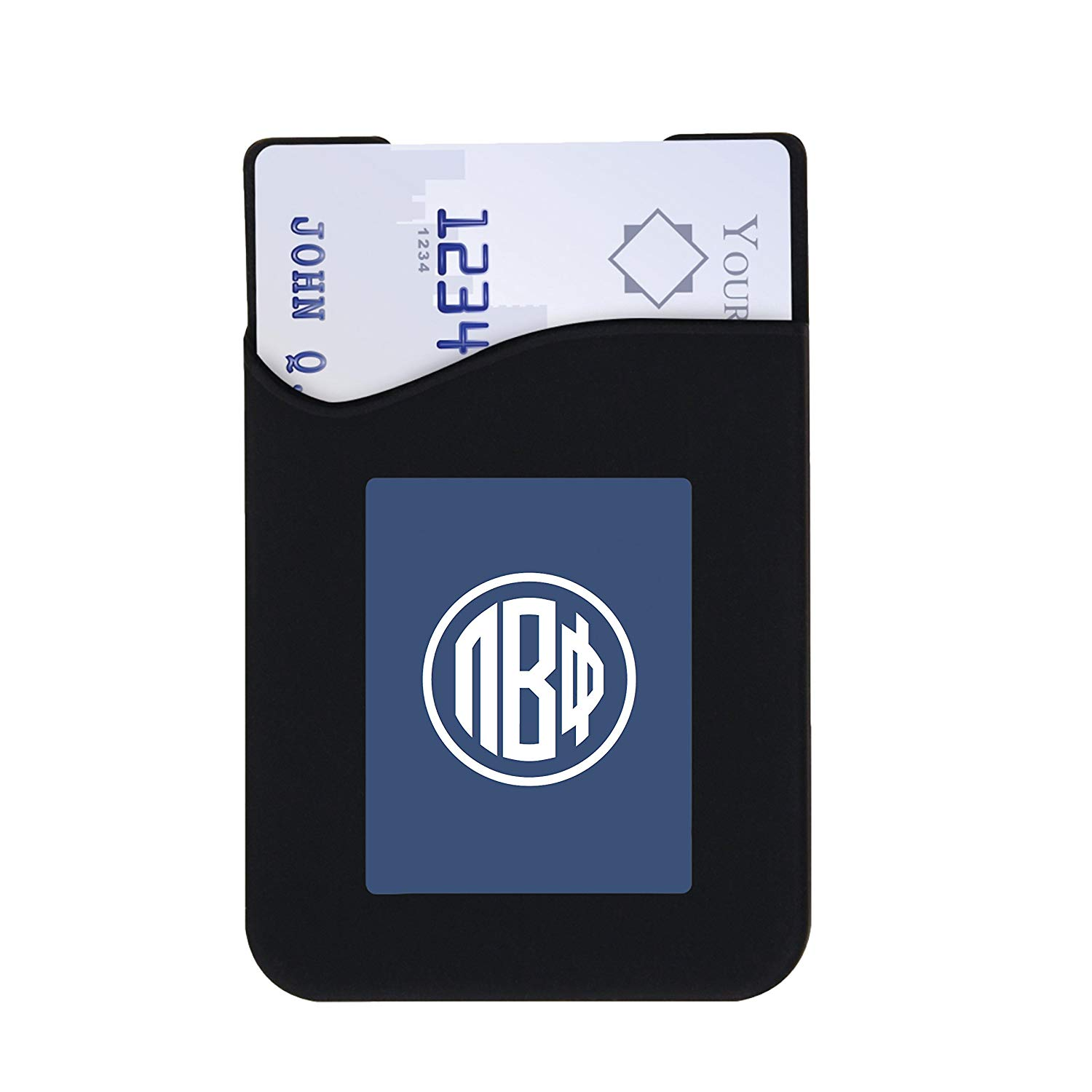 Pi Beta Phi Phone Wallets with 3M Adhesive for Phones & Cases (Chic Designs: Floral, Greek Monogram & Greek Letters)645759575159 (Greek Monogram)