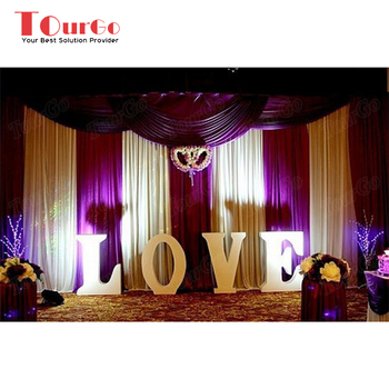 Tourgo Vintage Wedding Backdrop With Love Light Up Letter For Party