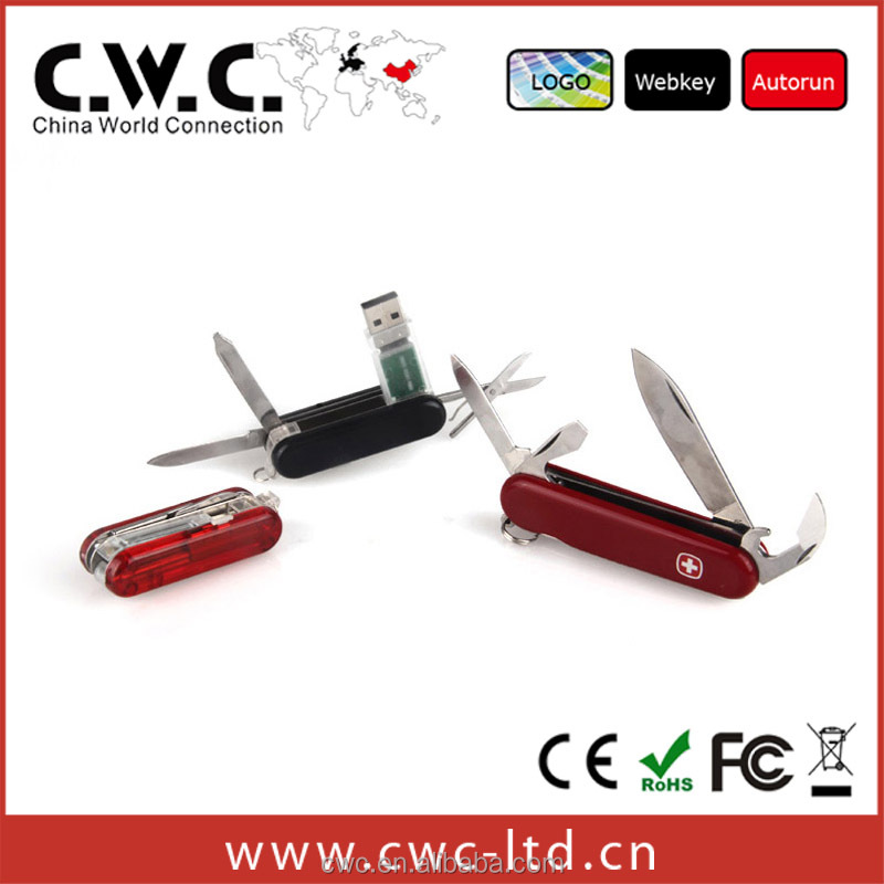 2G/4G/8G/16G/32G promotion functional cute swiss knife flash stick