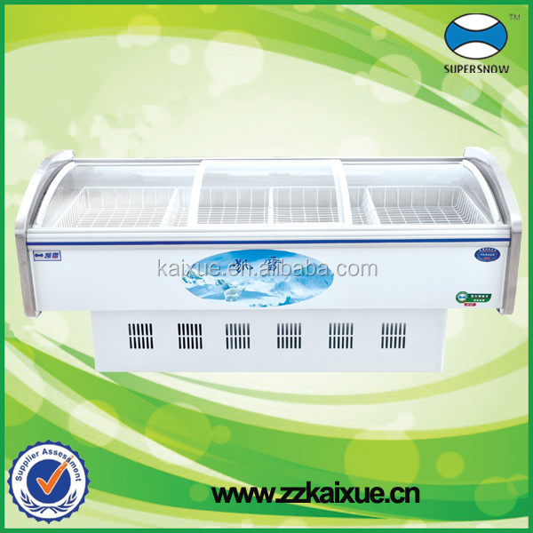Glass top cooler fresh meat chiller case