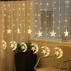 Factory Outlets moon and star shape Led Decoration Light Ramadan