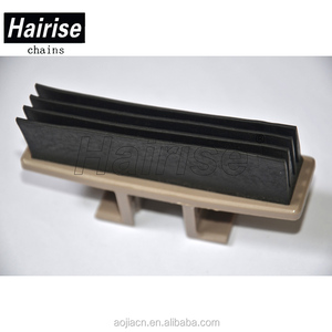 Straight Snap-on Rubber plastic conveyor slat top chain for beverage line
