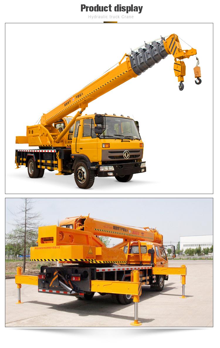 16 10 tonelada tonelada caminhão com guindaste hidráulico
