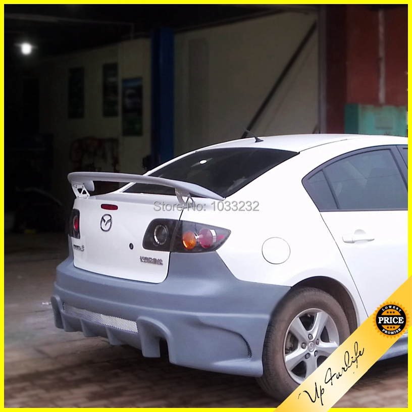top quality rear car spoilers wings for mazda axela speed 3 2006 2009 tuning rx8 type rear abs. Black Bedroom Furniture Sets. Home Design Ideas