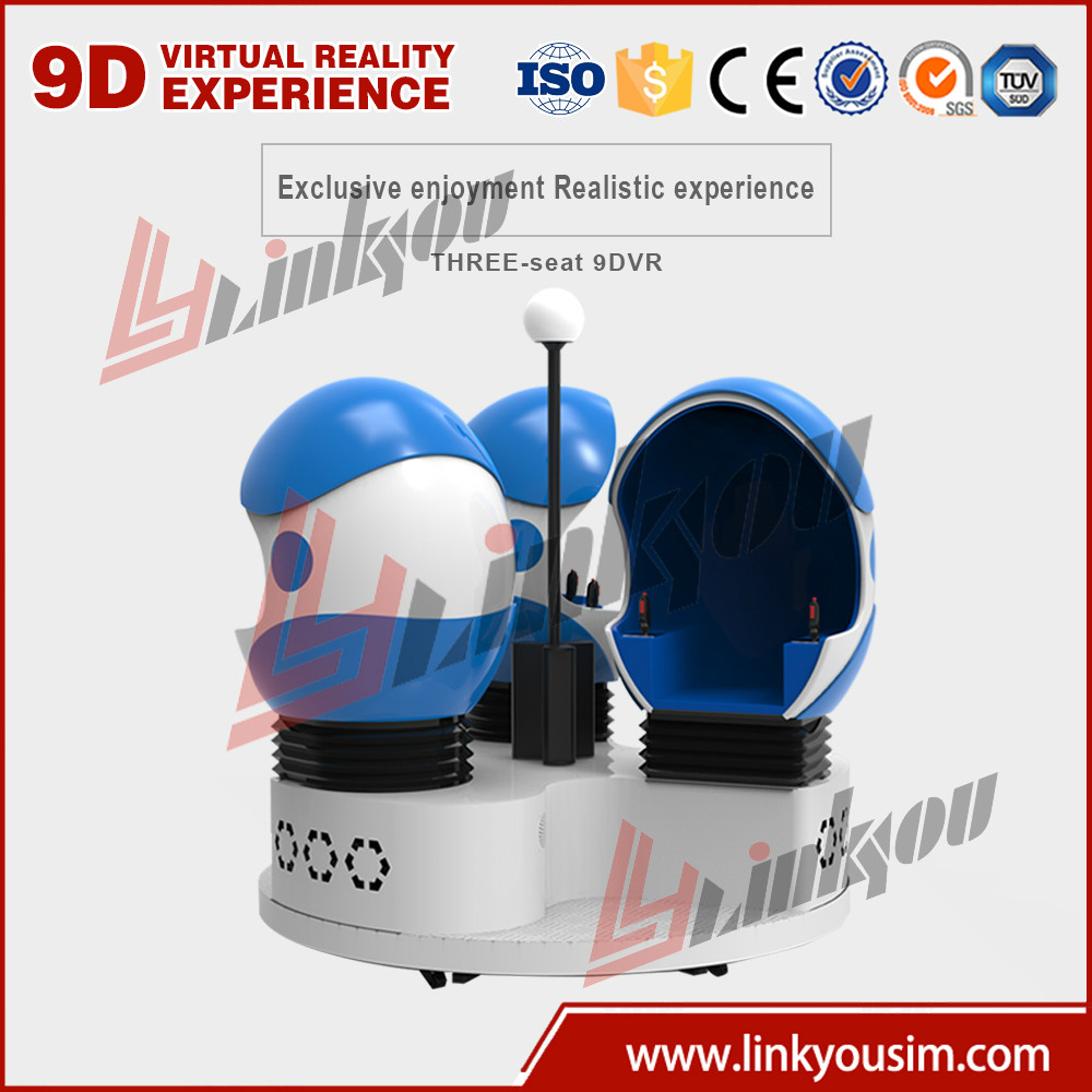 Interactive Home Cinema System 1080p Full HD Virtual Reality Electric 3/6 Seat 360 Degree Egg VR 9d Cinema Simulator