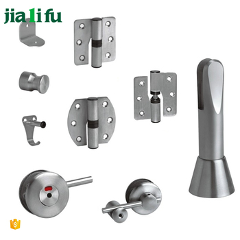 Vandal resistant restroom bathroom partitions hardware 304 for Bathroom divider hardware