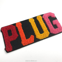 Alphabet chenille embroidery patch sew on patch for letter jacket