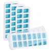 14 Cavities Silicone Ice Cube Trays easy release Silicone set of 4 with lids DIY ice molds wholesale custom ice tray