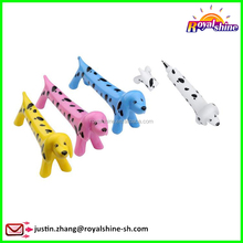 Lovely Dog Shaped Ballpoint Pen Blue Ink Candy Colors Dachshund Dog Ball Pen