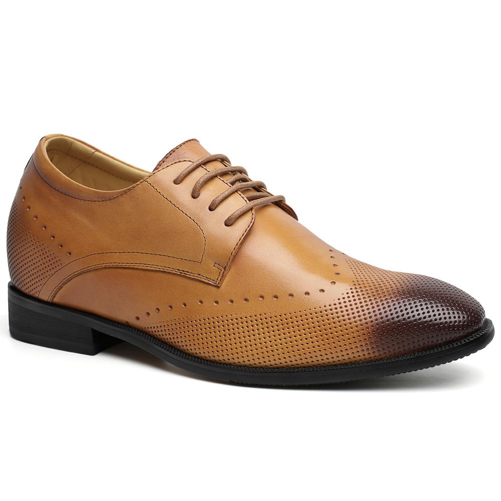 brogue dress leather shoes 2018 TAN big sales men cheap vAApH
