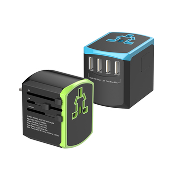 International Travel Adaptor EU AUS UK US Plug Socket Universal Fast Charger Global Travel Adapter With 4 Port USB
