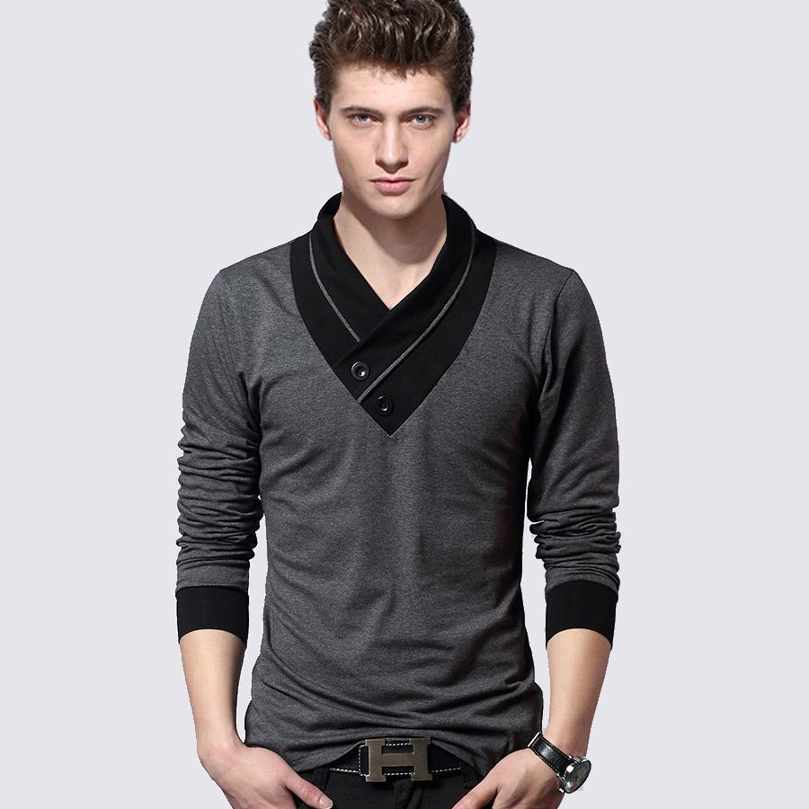 Autumn spring fashion boy s t shirt boss V neck Long ...